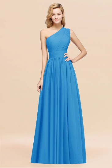 Stylish One-shoulder Sleeveless Long Junior Bridesmaid Dresses Affordable_25