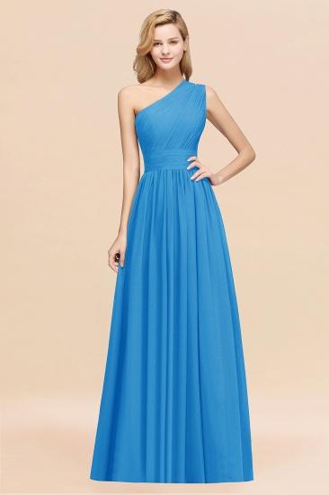 BMbridal Stylish One-shoulder Sleeveless Long Junior Bridesmaid Dresses Affordable_25