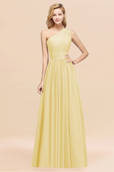 BMbridal Stylish One-shoulder Sleeveless Long Junior Bridesmaid Dresses Affordable_18