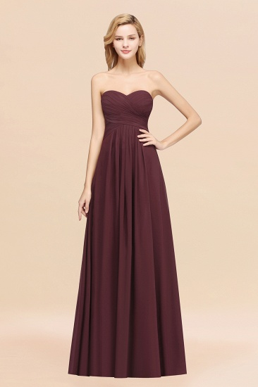 Vintage Sweetheart Long Grape Affordable Bridesmaid Dresses Online_47
