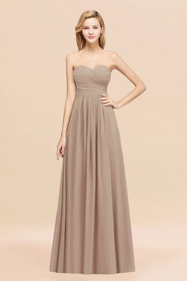 Vintage Sweetheart Long Grape Affordable Bridesmaid Dresses Online_16