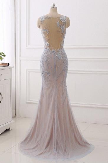 BMbridal Elegant Jewel Sleeveless Mermaid Prom Dresses Pearls with Appliques Online_3