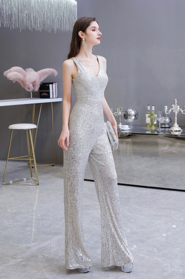 BMbridal Stunning Sequins V-Neck Sleeveless Jumpsuit Event Party Gowns On Sale_7