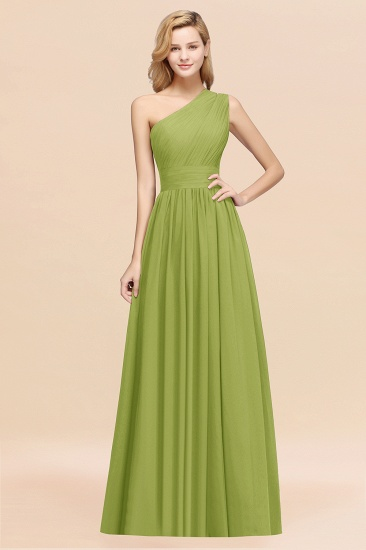BMbridal Stylish One-shoulder Sleeveless Long Junior Bridesmaid Dresses Affordable_34