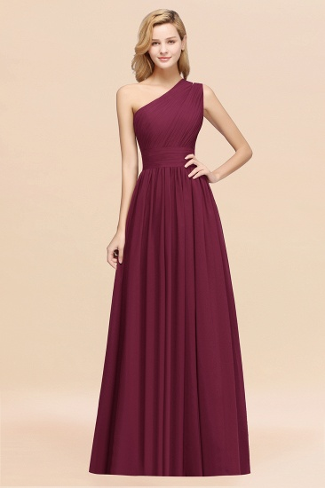 Stylish One-shoulder Sleeveless Long Junior Bridesmaid Dresses Affordable_44