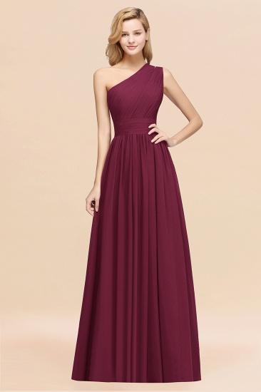 BMbridal Stylish One-shoulder Sleeveless Long Junior Bridesmaid Dresses Affordable_44