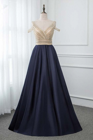 BMbridal Glamorous V-Neck Rhinestone Burgundy Mermaid Prom Dresses with Cold Sleeves Online_5