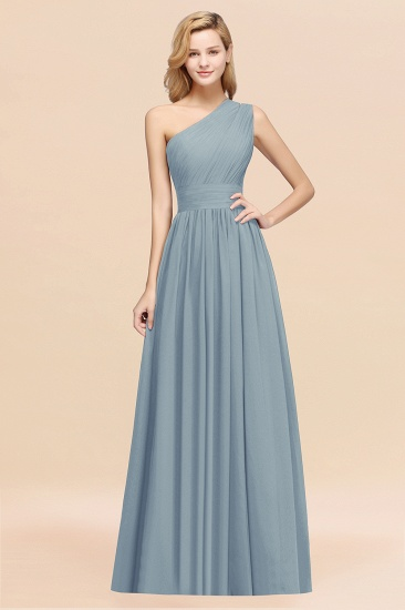 Stylish One-shoulder Sleeveless Long Junior Bridesmaid Dresses Affordable_40