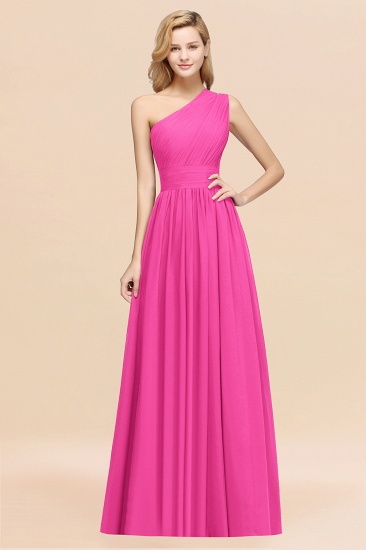 BMbridal Stylish One-shoulder Sleeveless Long Junior Bridesmaid Dresses Affordable_9