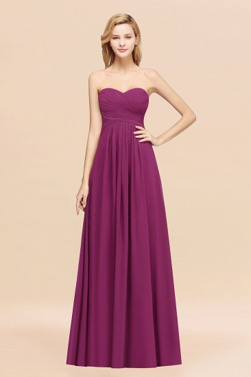 Vintage Sweetheart Long Grape Affordable Bridesmaid Dresses Online_42