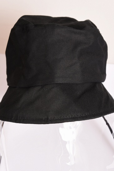 Black Fisherman's Hat Blocking Droplets Protective Cap Transparent Sunshade Eye Protection_7