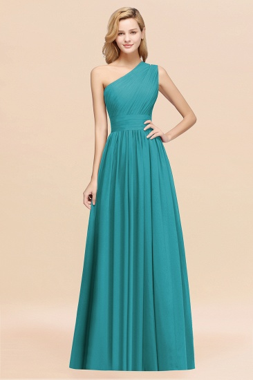 BMbridal Stylish One-shoulder Sleeveless Long Junior Bridesmaid Dresses Affordable_32