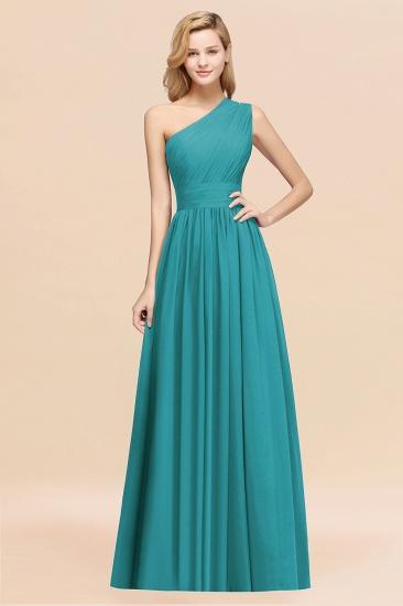BMbridal Stylish One-shoulder Sleeveless Long Junior Bridesmaid Dresses Affordable_32