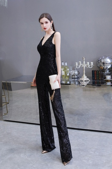 BMbridal Stunning Sequins V-Neck Sleeveless Jumpsuit Event Party Gowns On Sale_18