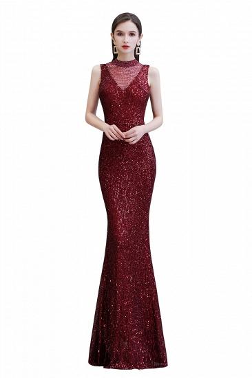 BMbridal Gorgeous Burgundy Sequins Long Mermaid Prom Dress On Sale_1