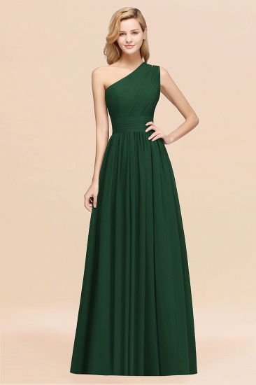 BMbridal Stylish One-shoulder Sleeveless Long Junior Bridesmaid Dresses Affordable_31