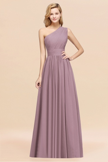 BMbridal Stylish One-shoulder Sleeveless Long Junior Bridesmaid Dresses Affordable_43