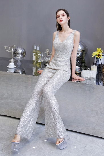 Stunning Sequins V-Neck Sleeveless Jumpsuit Event Party Gowns On Sale_11