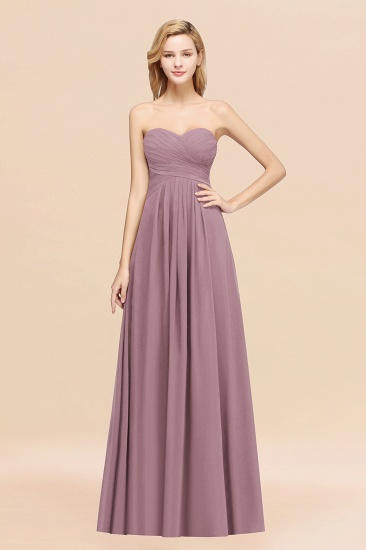 Vintage Sweetheart Long Grape Affordable Bridesmaid Dresses Online_43