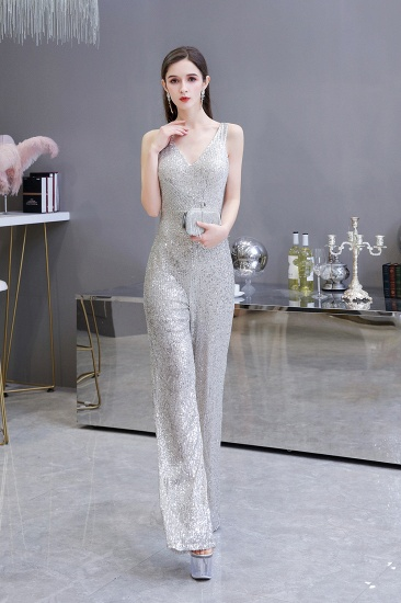 Stunning Sequins V-Neck Sleeveless Jumpsuit Event Party Gowns On Sale_6