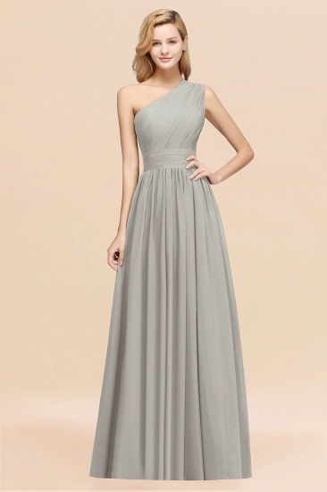 Stylish One-shoulder Sleeveless Long Junior Bridesmaid Dresses Affordable_30