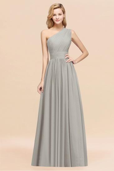 BMbridal Stylish One-shoulder Sleeveless Long Junior Bridesmaid Dresses Affordable_30