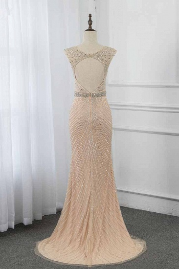 BMbridal Luxury V-Neck Beadings Mermaid Prom Dresses with Crystals On Sale_3