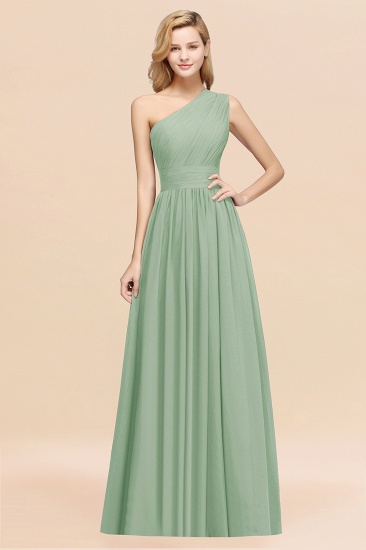 BMbridal Stylish One-shoulder Sleeveless Long Junior Bridesmaid Dresses Affordable_41