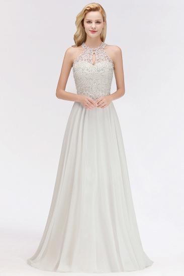 BMbridal A-line Chiffon Lace Ruffles Bridesmaid Dress with Beadings_1
