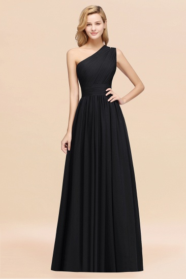 Stylish One-shoulder Sleeveless Long Junior Bridesmaid Dresses Affordable_29