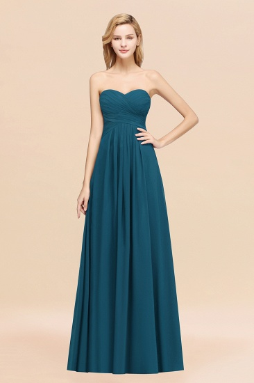 Vintage Sweetheart Long Grape Affordable Bridesmaid Dresses Online_27
