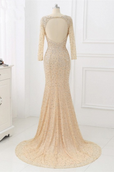 BMbridal Sparkly Sequined Jewel Mermaid Prom Dresses with Long Sleeves Online_9