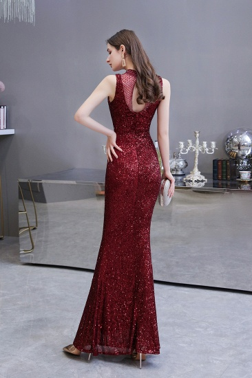 BMbridal Gorgeous Burgundy Sequins Long Mermaid Prom Dress On Sale_3