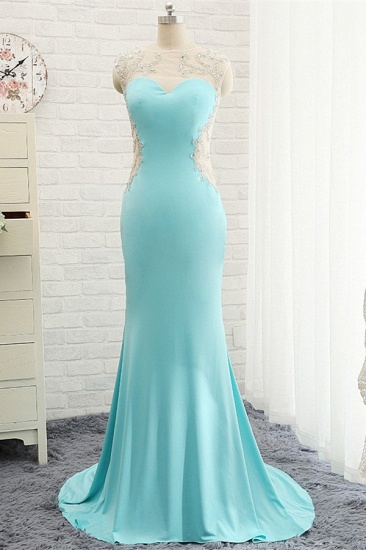 BMbridal Chic Mermaid Lace Appliques Prom Dress Long Evening Party Gowns Online_3