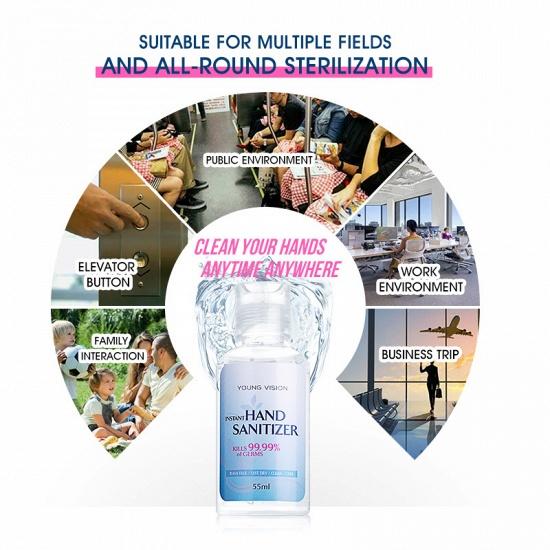 BMbridal 20 Bottles Young Vision Instant Hand Sanitizer 70% Alcohol (20 Bottles*55ml)_5