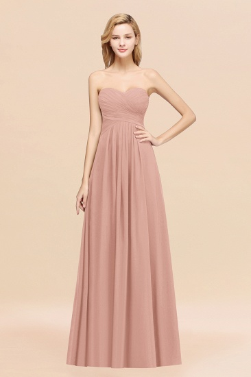 Vintage Sweetheart Long Grape Affordable Bridesmaid Dresses Online_6
