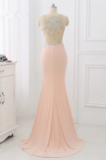 Affordable Jewel Appliques Sleeveless Prom Dresses with Front Slit Online_3
