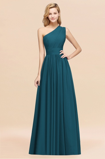 BMbridal Stylish One-shoulder Sleeveless Long Junior Bridesmaid Dresses Affordable_27
