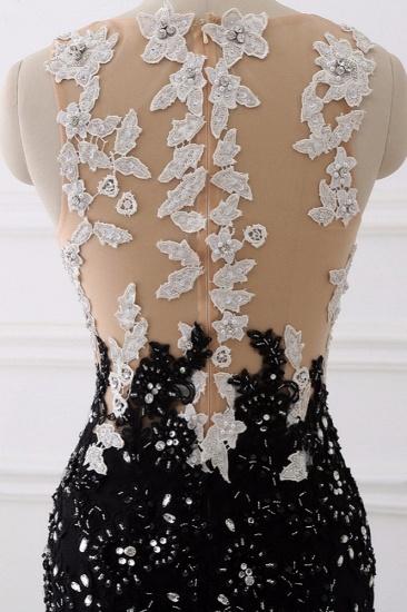 Luxury Tulle Jewel Appliques Mermaid Prom Dresses with Rhinestone Online_8