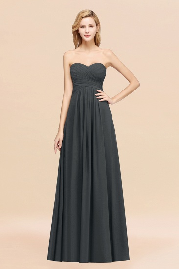 Vintage Sweetheart Long Grape Affordable Bridesmaid Dresses Online_46