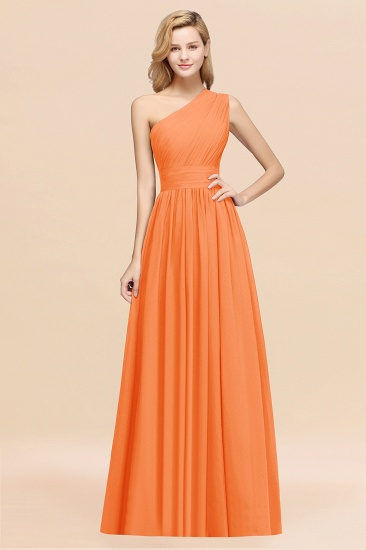BMbridal Stylish One-shoulder Sleeveless Long Junior Bridesmaid Dresses Affordable_15