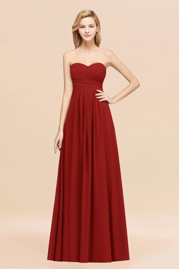 Vintage Sweetheart Long Grape Affordable Bridesmaid Dresses Online_48