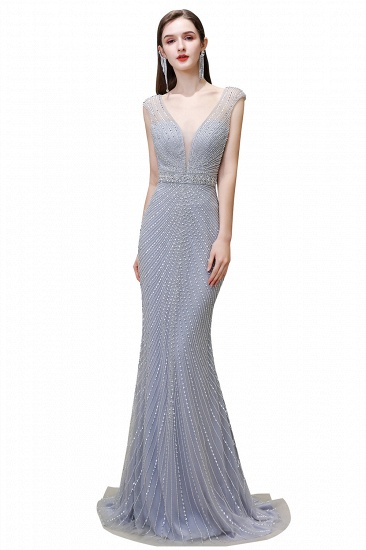 BMbridal Luxurious Beadings Mermaid Prom Dress Long Mermaid Evening Gowns On Sale_2