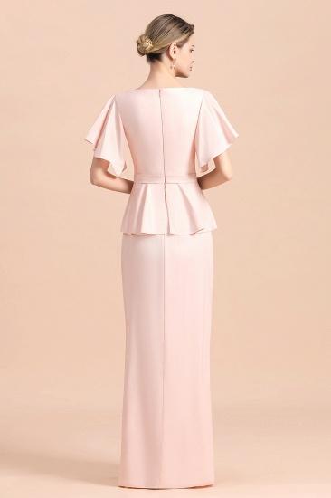 BMbridal Glamorous V-Neck Front Slit Mother of Bride Dresses with Beadings Sash_3