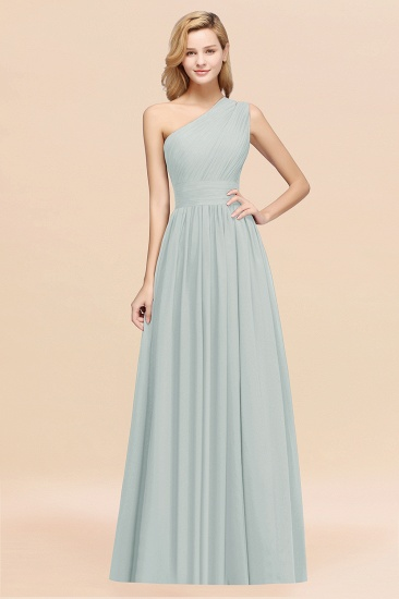 Stylish One-shoulder Sleeveless Long Junior Bridesmaid Dresses Affordable_38