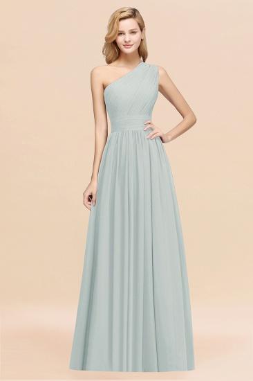BMbridal Stylish One-shoulder Sleeveless Long Junior Bridesmaid Dresses Affordable_38