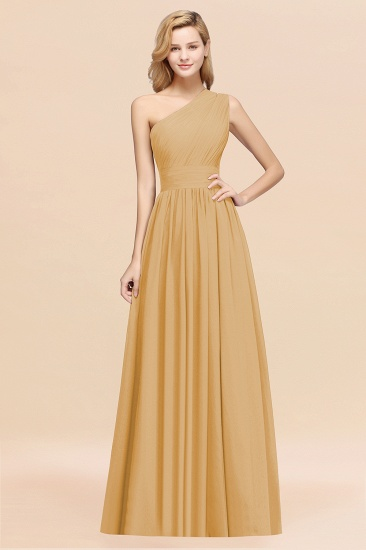 BMbridal Stylish One-shoulder Sleeveless Long Junior Bridesmaid Dresses Affordable_13