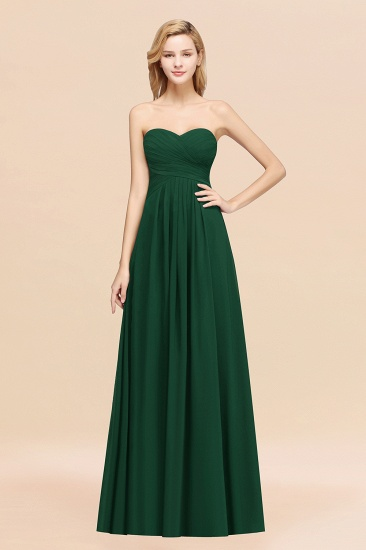 Vintage Sweetheart Long Grape Affordable Bridesmaid Dresses Online_31