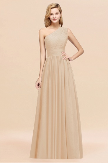 BMbridal Stylish One-shoulder Sleeveless Long Junior Bridesmaid Dresses Affordable_14