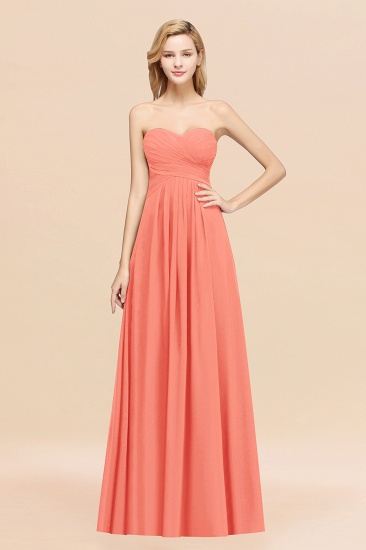 Vintage Sweetheart Long Grape Affordable Bridesmaid Dresses Online_45